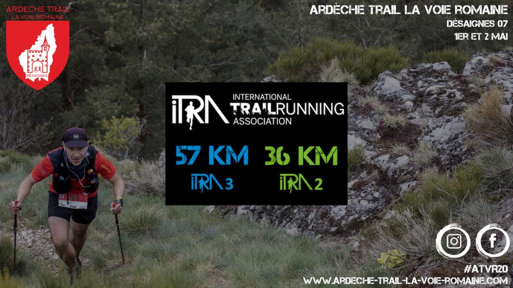 Points ITRA Ardèche Trail la Voie Romaine