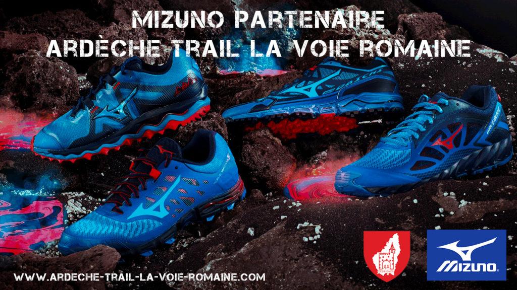 Mizuno Partenaire Ardèche Trail la Voie Romaine